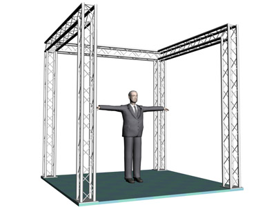 10 inch display truss